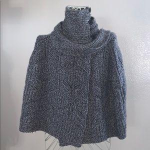 Ugg Gray Knit Cape